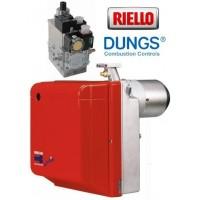 Μονοβάθμιος καυστήρας αερίου Riello Gulliver BS3 65-150 KW με σετ γραμμής 407G